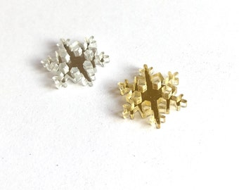 Snowflake embellishments, mirror finish