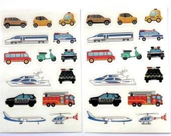 Transport craft sticker sheet x 2