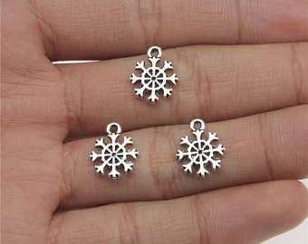 Snowflake silver charms