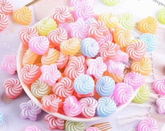 Sweets resin embellishments, 16mm candy cabochons