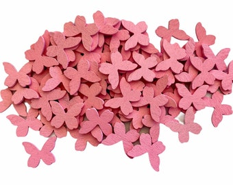 Pink wooden butterfly embellishments