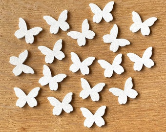 White wooden butterfly embellishments,