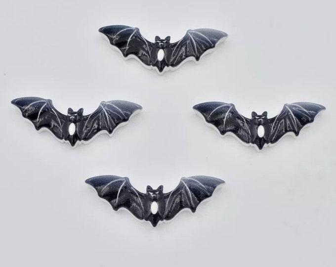 Featured listing image: Black bat resin embellishments