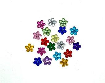 Flower cabochons, 12mm