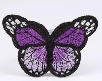 Purple 7cm butterfly  patch
