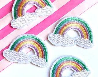 Pastel rainbow patch