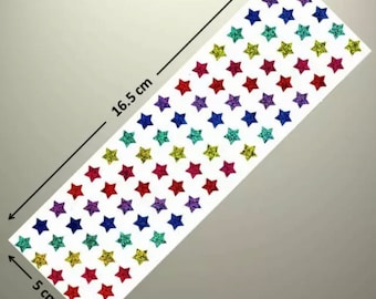 Star sparkle stickers x 2 Sheets