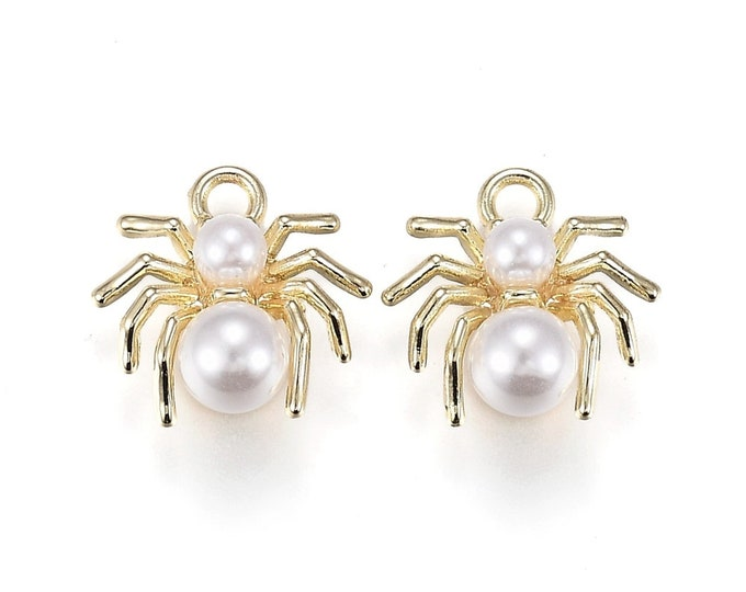 Featured listing image: spider charms, pearl and gold
