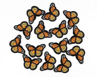 Orange butterfly patches x2
