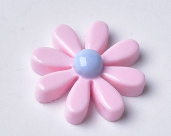 Daisy cabochons, 18mm pink