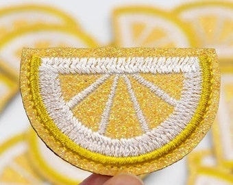 Lemon iron on patch