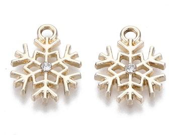 Gold Snowflake charms