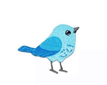 Bird iron on patch, style 2