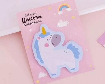 Unicorn sticky notes pad