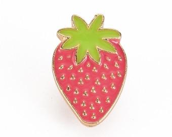 strawberry enamel pin badge,