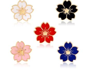 flower enamel pin badge