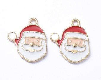 Santa charms, 16mm