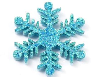 Felt fabric blue snowflake shapes, 36m