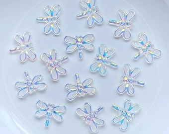 Dragonfly embellishments, clear