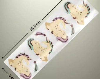 Sleepy unicorn Stickers x 2 Sheets