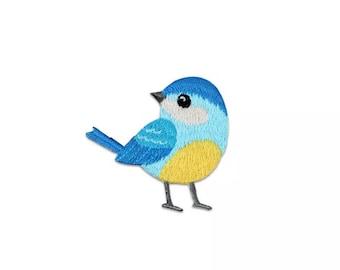 Bird iron on patch, blue bird
