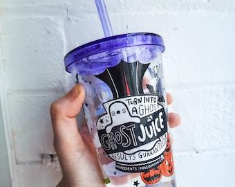 Ghost Juice Dark Humour Vinyl Sticker for Water Bottles