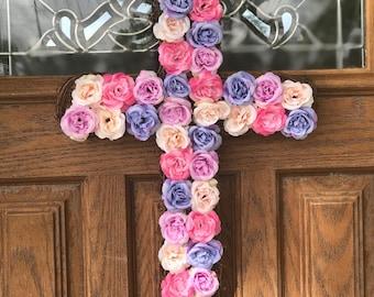 Cross Flower Wreath