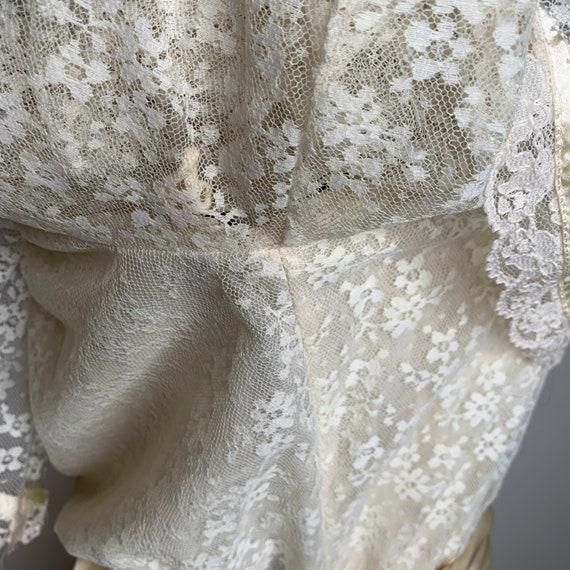Cottagecore Prairie Dress, 70s Gunne Sax, Lace Fl… - image 9