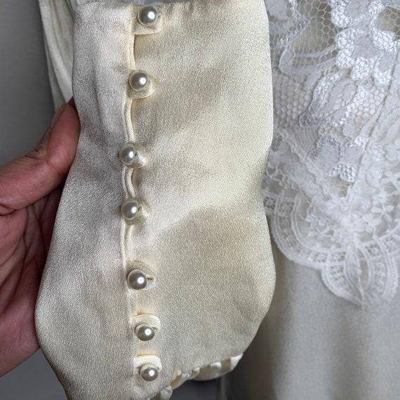 Vintage Gunne Sax Edwardian Silk Lace Blouse - image 2