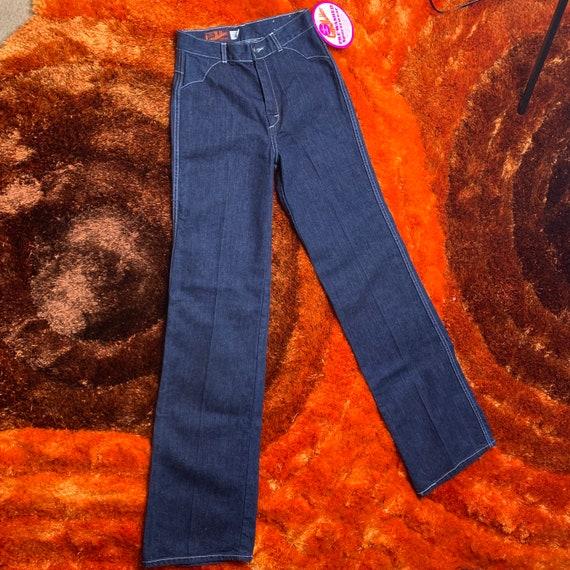 1970s 70s Landlubber Bellbottom Denim Jeans - image 2