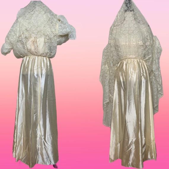 Cottagecore Prairie Dress, 70s Gunne Sax, Lace Fl… - image 2