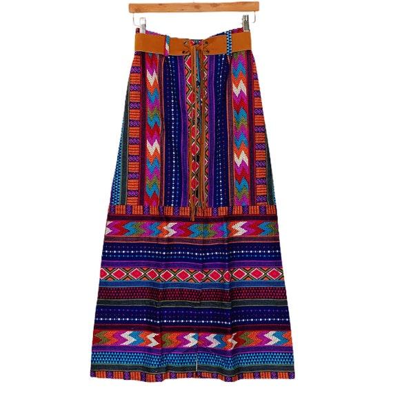 Vintage 1970s Boho Hippie Maxi Skirt