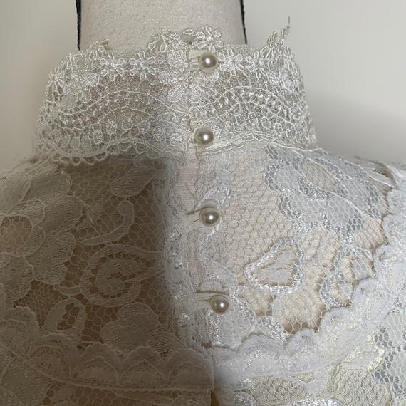 Vintage Gunne Sax Edwardian Silk Lace Blouse - image 4