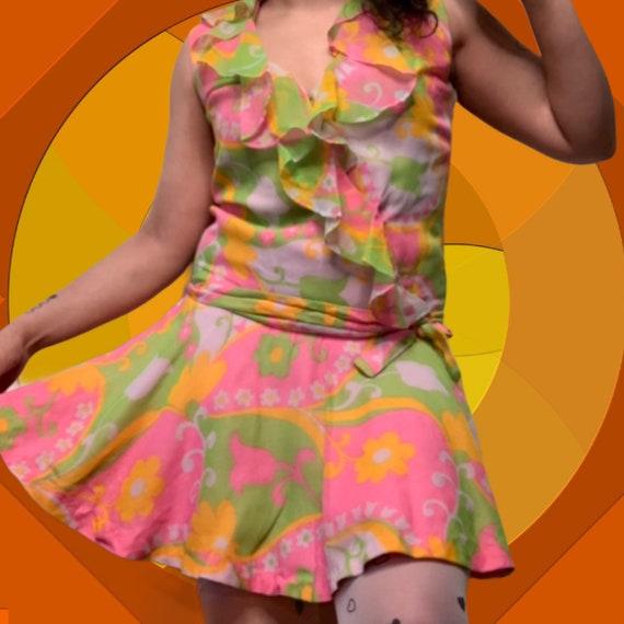Young Edwardian Flower Power Go Go Mod Dress
