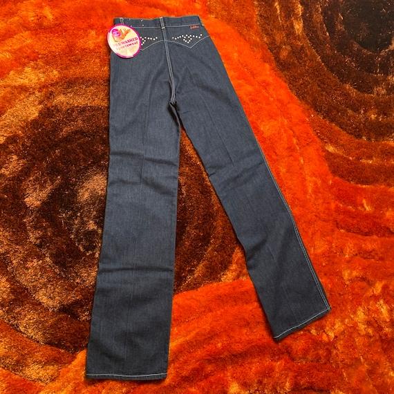 1970s 70s Landlubber Bellbottom Denim Jeans - image 8