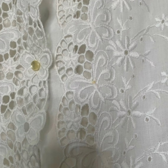 Vintage Mod Mini Dress, White Eyelet Dress, 60s M… - image 5