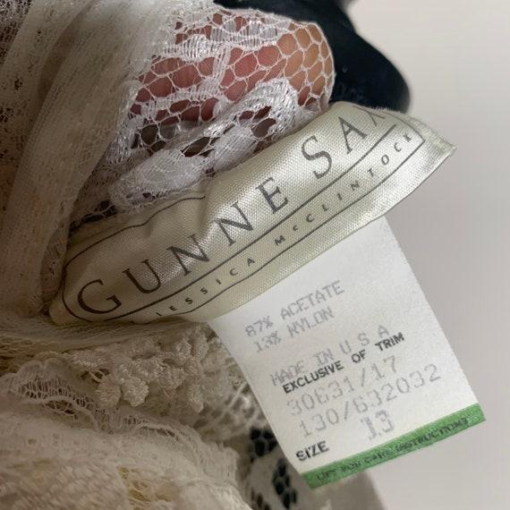 Vintage Gunne Sax Edwardian Silk Lace Blouse - image 6