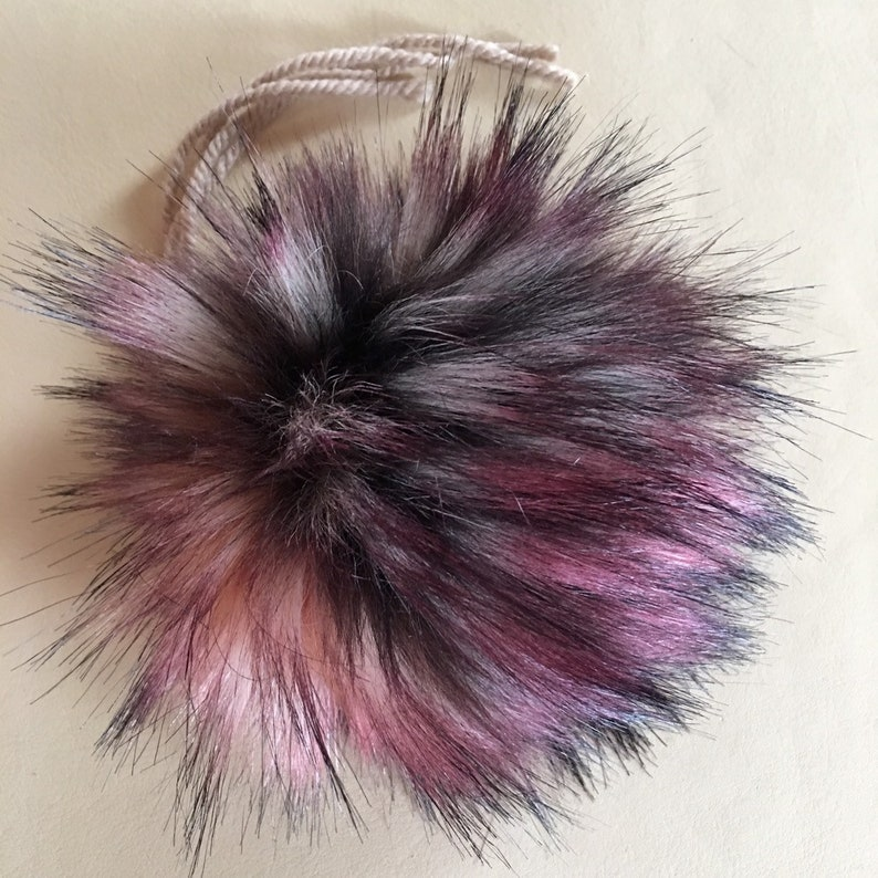 7356f14f8ad Red Fox Faux Fur UK Made Pom Poms Washable Sew or Tie on 4