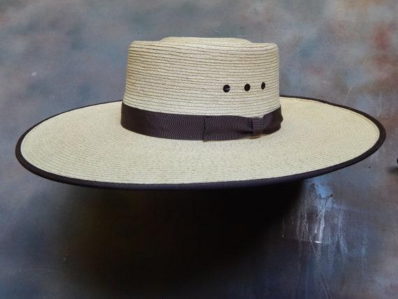 Palm Leaf Buckaroo Straw Hat  260a0d3b59f