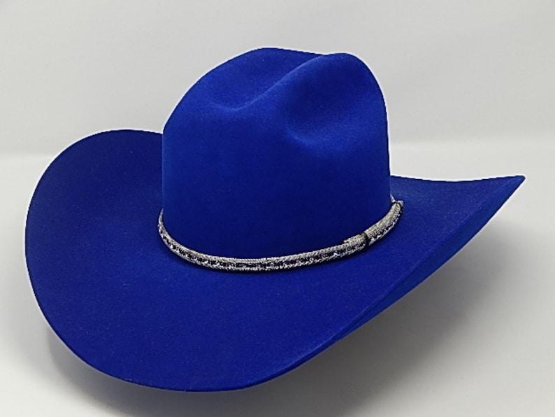 c34467f60 8X Royal Blue Western Cowboy Hat
