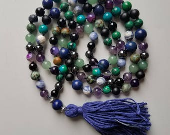 108-Bead Hand-Knotted Mala Necklace