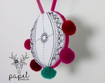 Papier Mache Necklace