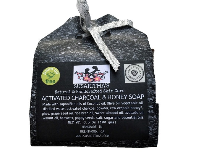 Activated charcoal and honey soap