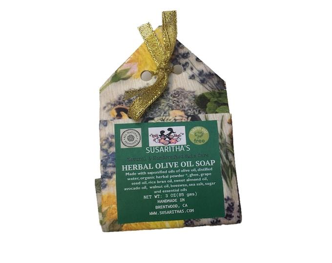 Herbal olive oil soap