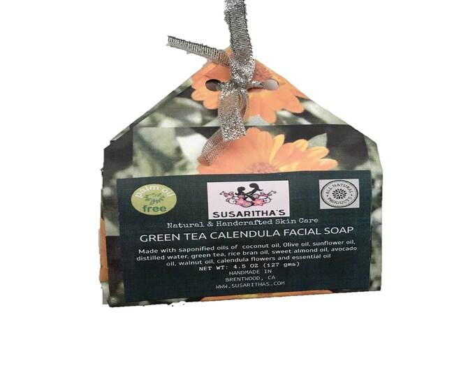 Green tea calendula facial soap