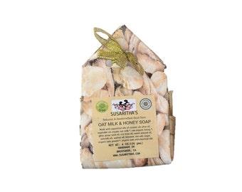 Oatmilk and honey silk soap
