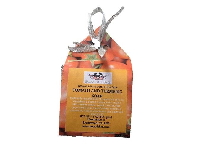 Tomato turmeric soap