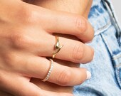 Snake ring, Gold snake ring, serpent ring, Statement ring, Silver Snake Ring, Gold ring, Dainty ring, Stackable ring, minimalist ring