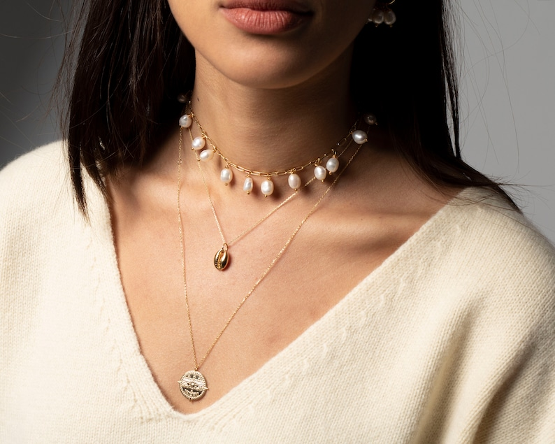 Pearl necklace Choker gold necklace Imitation pearl necklace Delicate necklace gold Dainty gold necklace Choker necklace with pearls