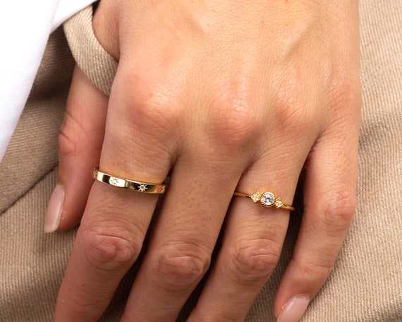 dainty-ring,-gold-ring,-minimalist-ring,-delicate-ring,-tiny-ring,-stacking-ring,-stackable-ring,-minimalist-jewelry,-engagement-ring by etsy